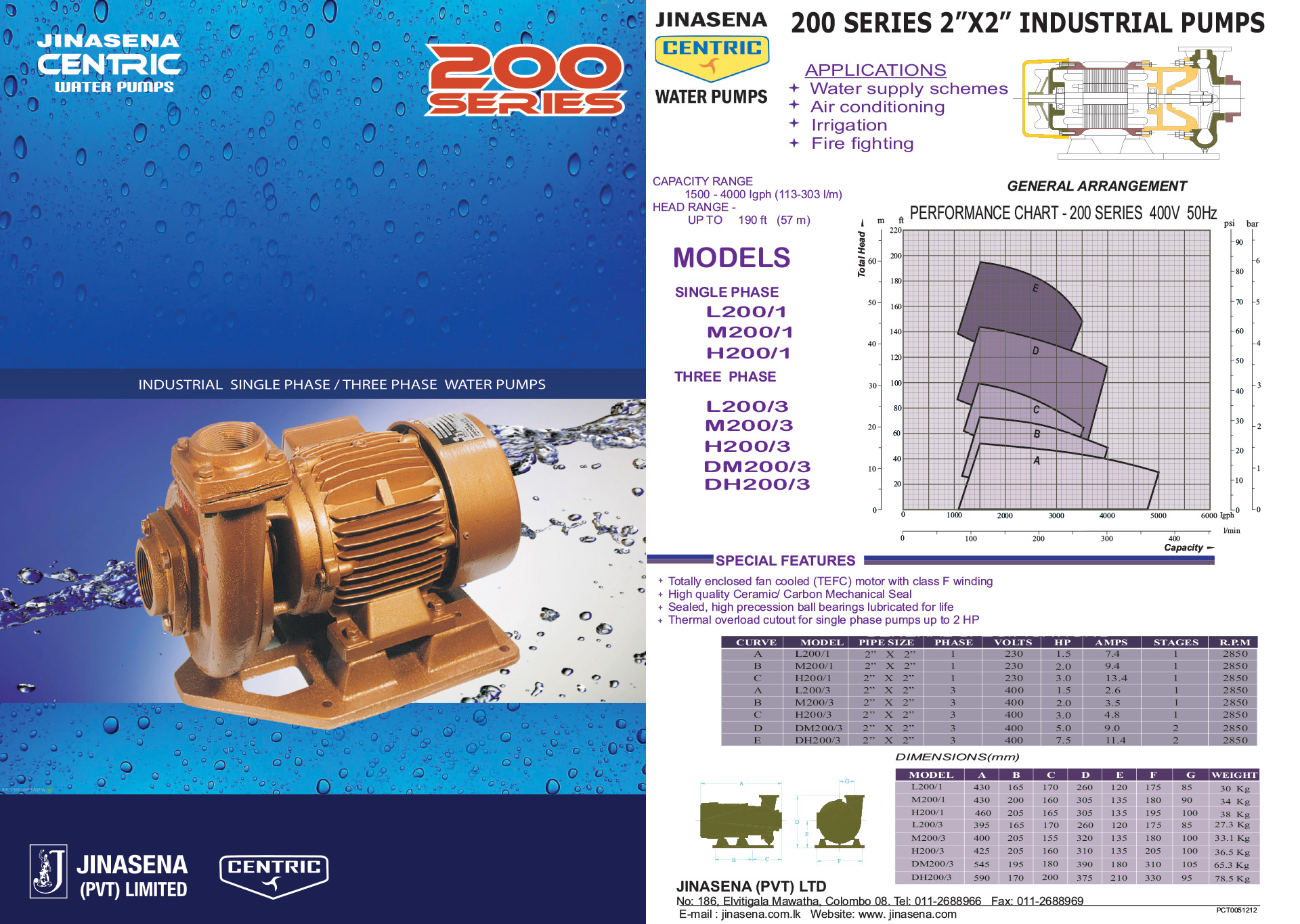 Jinasena Water Pumps In Sri Lanka Industrial Pumps
